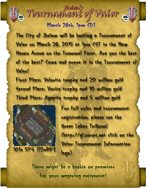 Second Annual Tournament of Valor 3/28 @ 1pm C
