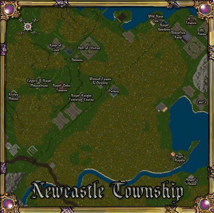 Map of Newcastle Township