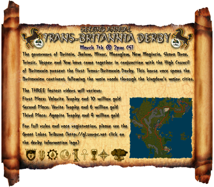 2nd Annual Trans-Britannia Derby - March 7, 2015 @ 2pm CST