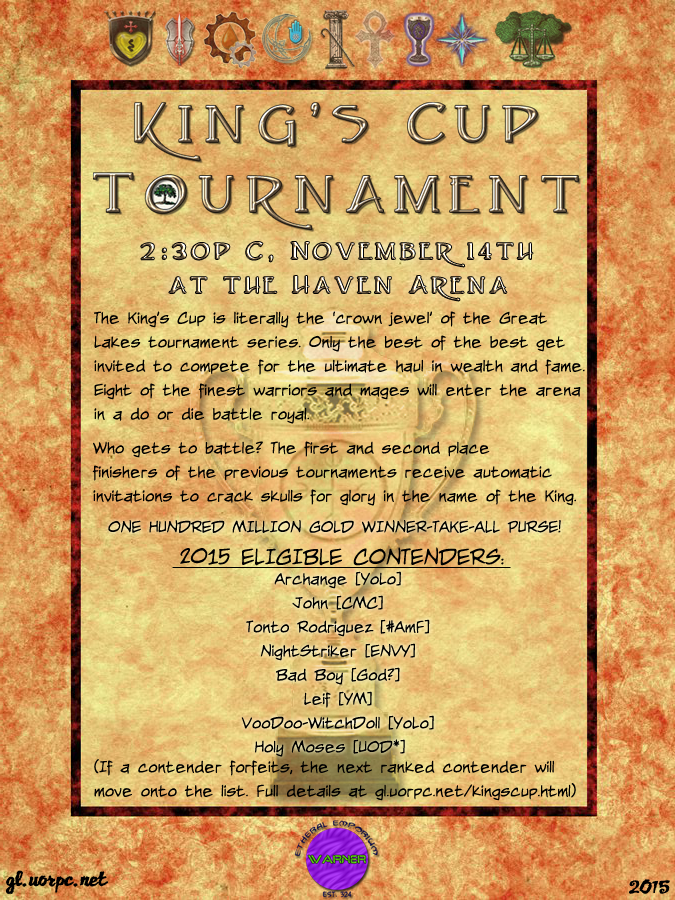 King's Cup Tournament Announcement