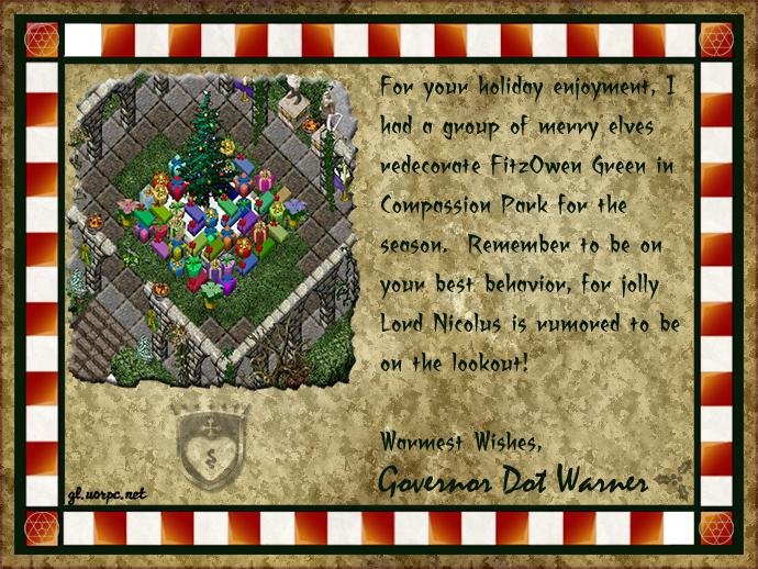 Holiday Card from Dot Warner