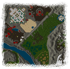 Cartographer's rendering of central Ilshenar
