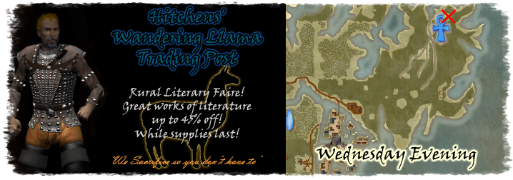 Advertisement for Hitchen's Wandering Llama Trading Post