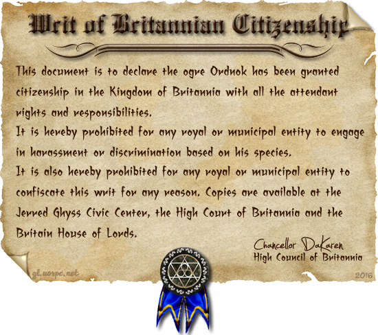 Writ of Citizenship