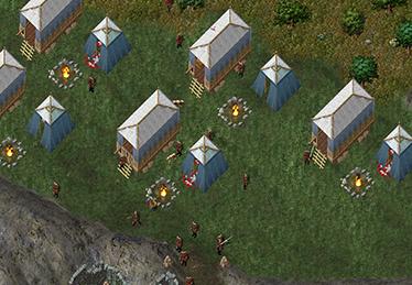 Bane Chosen camp near Ilshenar Spirituality Shrine