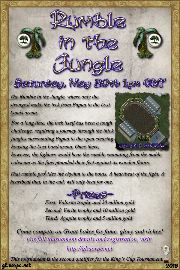 2nd Annual Rumble in the Jungle Tournament