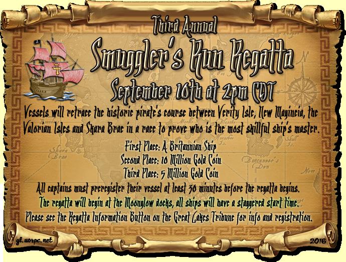 Third Annual Smuggler's Run Regatta, Sept, 10th @ 2pm CDT
