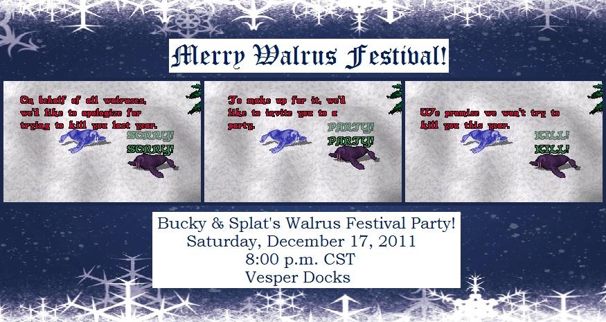 Bucky & Splat's 2011 Invitation