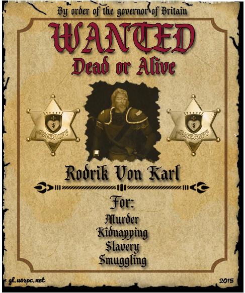Wanted: Rodrik Von Karl
