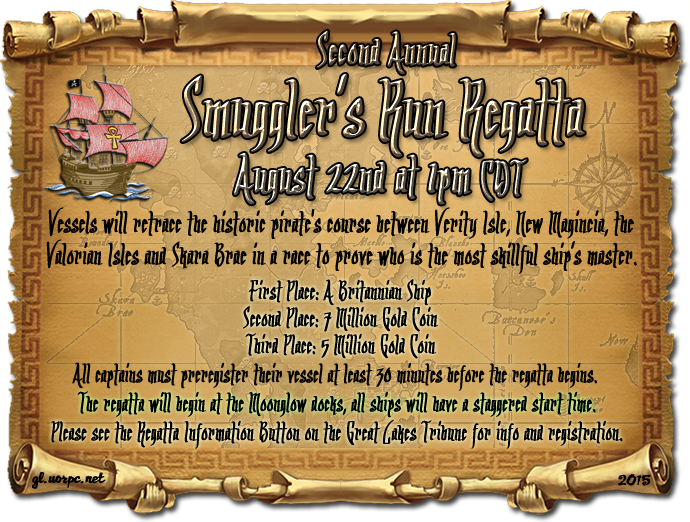 2nd Annual Smuggler's Run Regatta 8/22 @ 1pm C
